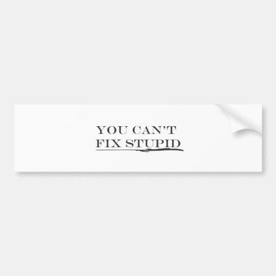 You can't fix.ai bumper sticker