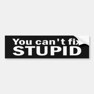 You cant fix Stupid Bumper Sticker