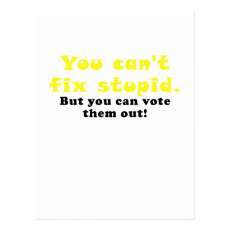 You cant fix stupid but you can vote them out postcard