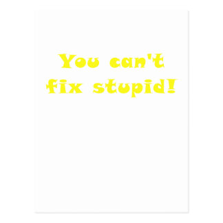 You cant fix Stupid Postcard
