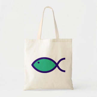 You can't get a more modern Christian Fish Symbol Tote Bag