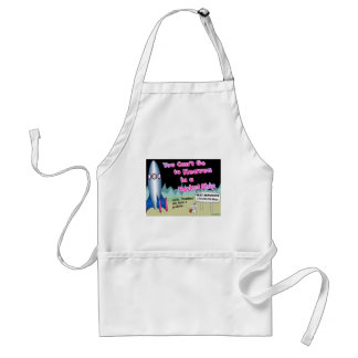 You can't go to heaven in a rocket gift adult apron