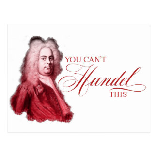 You Can't Handel This Classical Composer Pun Postcard