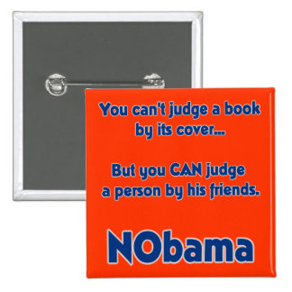 You can't judge a book by its cover... pinback button