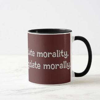 You can't legislate morality mug