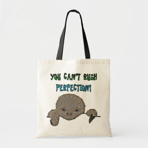 You Can't Rush Perfection Baby Sloth Canvas Bags