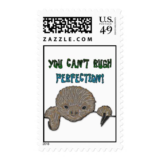 You Can't Rush Perfection Baby Sloth Postage