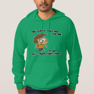 You can't say no to me - with cartoon boy hoodie