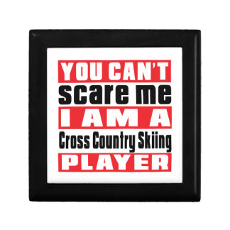 You Can't Scare Me Cross Country Skiing Designs Trinket Box