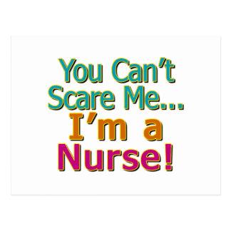 You Can't Scare Me, Funny Nurse Nursing Postcard