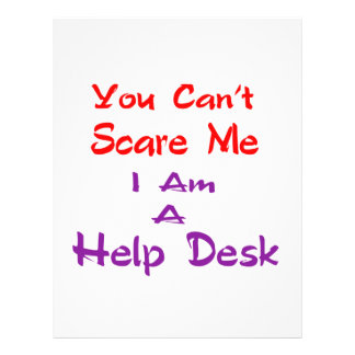 You can't scare me I am a Help Desk Letterhead Template