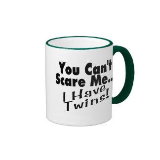 You Can't Scare Me I Have Twins (black) Ringer Mug
