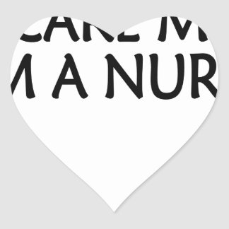 you cant scare me im a nurse.png heart sticker