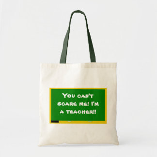 You can't scare me! I'm a tea... Canvas Bag