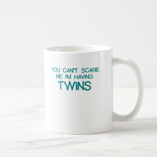 YOU CANT SCARE ME IM HAVING TWINS BLUE.png Coffee Mug