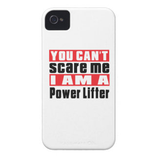 You Can't Scare Me Power Lifter Designs iPhone 4 Case