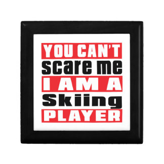You Can't Scare Me Skiing Designs Keepsake Boxes