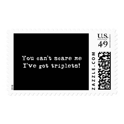 You can't scare me triplets postage stamp