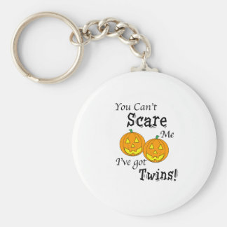 You can't scare me twins - pumpkins keychain
