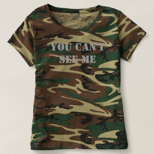 Women's Shirt Camouflage T Me See You Can't fyYgb76