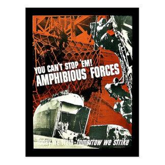 You Can't Stop 'Em Amphibious Forces Post Cards