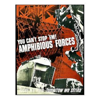 You Can't Stop 'Em Amphibious Forces Postcard