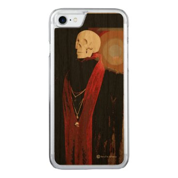 Halloween Themed You can't take it with you iPhone Wood Case
