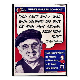 You Can't Win A War With Soldiers Off Duty Or With Postcard