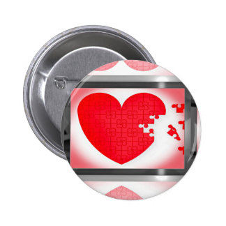 You Carry The Missing Pieces To My Heart Pinback Button