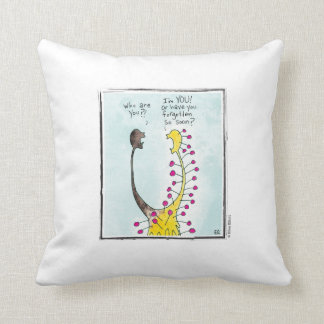 YOU cartoon by Ellen Elliott Throw Pillow