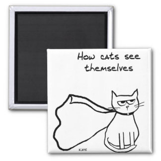 You Cat the Superhero - Funny Cat Gift Magnet