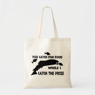 You Catch Fish Food Tote Bags