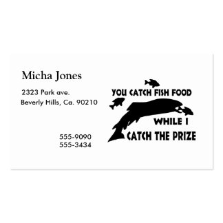 You Catch Fish Food Double-Sided Standard Business Cards (Pack Of 100)