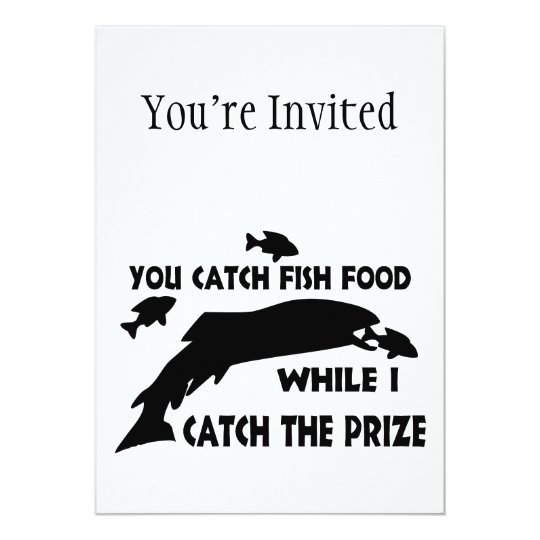 You Catch Fish Food Card