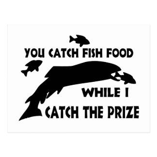 You Catch Fish Food Postcard