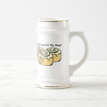 You Checking Out My Buns? Funny Cinnamon Roll Beer Stein