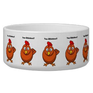 You Chicken? Brown Hen Rooster Cartoon Bowl