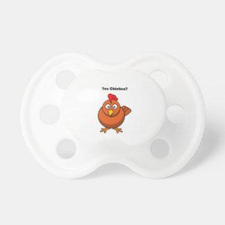 You Chicken? Brown Hen Rooster Cartoon BooginHead Pacifier