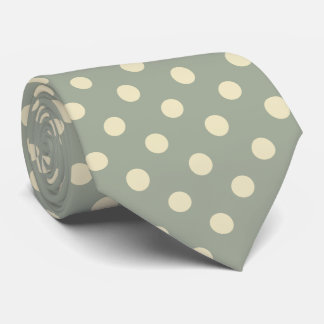 You choose background color and beige polka dots tie