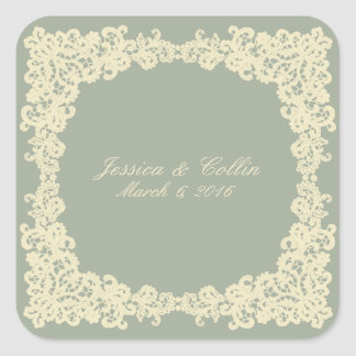 You choose background color & beige lace sticker