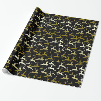 YOU CHOOSE BACKGROUND COLOR Camo Deer Gift Wrapping Paper