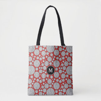 You Choose The Color Cool & Fun Circles Tote Bag