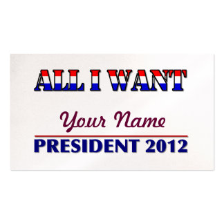 You Choose The President - 2012 Elections Bookmark Business Card
