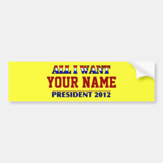You Choose The President - 2012 Elections Name Tag Bumper Sticker