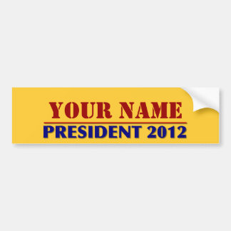 You Choose The President - 2012 Elections Name Tag Car Bumper Sticker