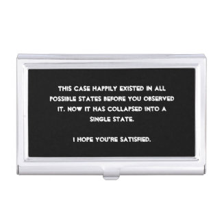 You collapsed it! Quantum Physics Humor Case For Business Cards