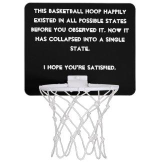You collapsed it! Quantum Physics Humor Mini Basketball Hoop