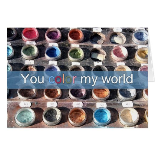 You color my world cards