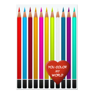 You Color My World Valentine Card