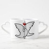 you complete me, love doves coffee mug set